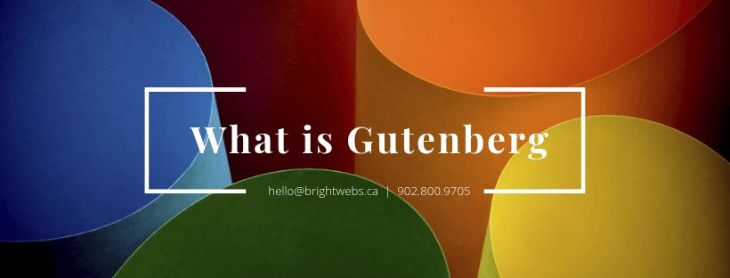 what-is-gutenberg-title-on-colorful-background
